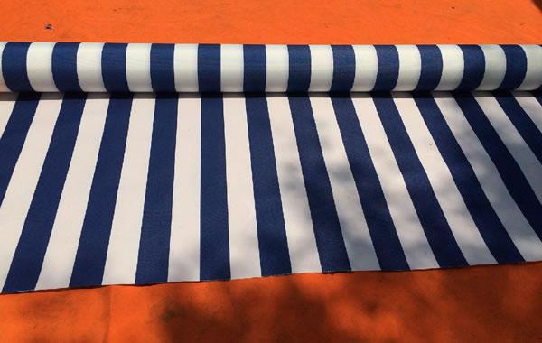 蓝白相间遮阳篷布
