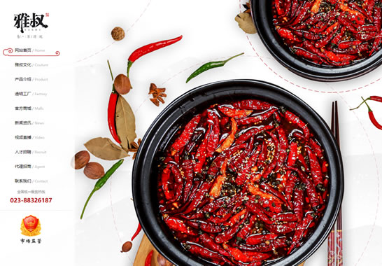 重庆网站建设,重庆雅叔食品