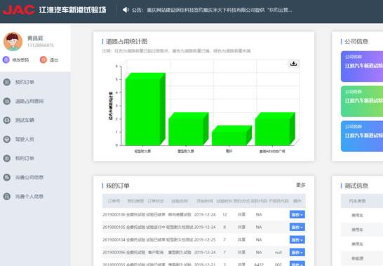 赢闻信息-新港试验场智能管理系统